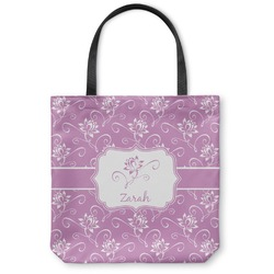 Lotus Flowers Canvas Tote Bag (Personalized)