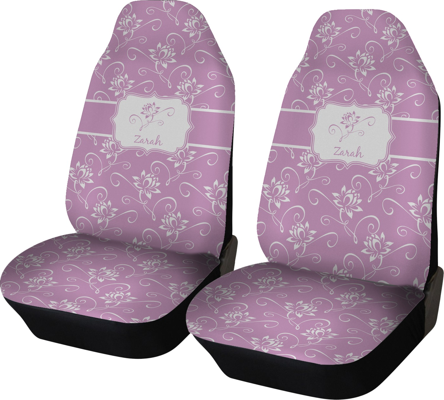 lotus flowers car seat covers set of two personalized youcustomizeit. Black Bedroom Furniture Sets. Home Design Ideas