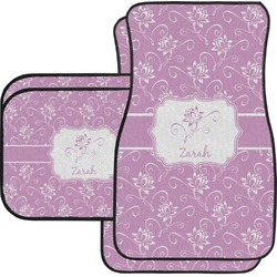 Lotus Flowers Car Floor Mats Set - 2 Front & 2 Back (Personalized)