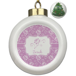 Lotus Flowers Ceramic Ball Ornament - Christmas Tree (Personalized)