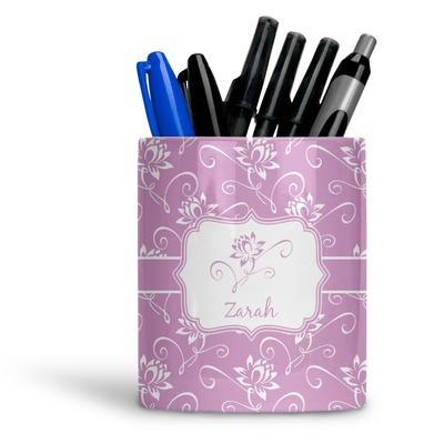 Lotus Flowers Ceramic Pen Holder