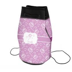Lotus Flowers Neoprene Drawstring Backpack (Personalized)