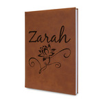 Lotus Flowers Leatherette Journal (Personalized)