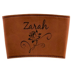Lotus Flowers Leatherette Mug Sleeve (Personalized)