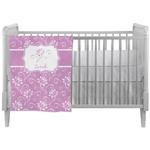 Lotus Flowers Crib Comforter / Quilt (Personalized)