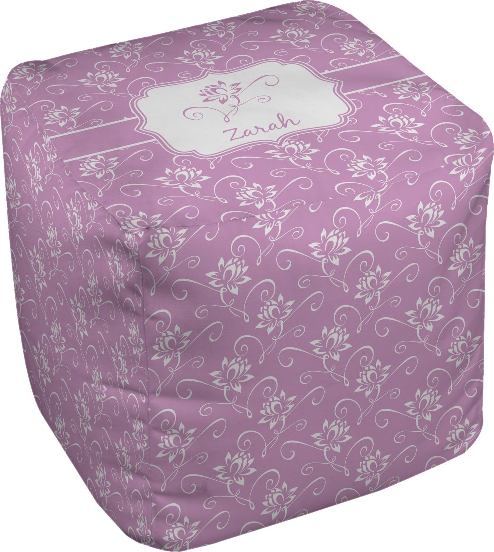 lotus flowers cube pouf ottoman 18 personalized. Black Bedroom Furniture Sets. Home Design Ideas