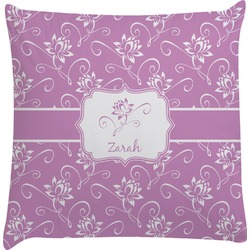 Lotus Flowers Decorative Pillow Case (Personalized)
