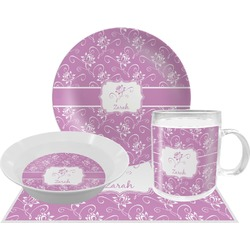 Lotus Flowers Dinner Set - 4 Pc (Personalized)