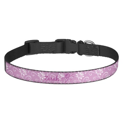 Lotus Flowers Dog Collar (Personalized)