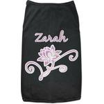 Lotus Flowers Black Pet Shirt (Personalized)