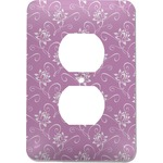 Lotus Flowers Electric Outlet Plate (Personalized)