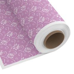 Lotus Flowers Custom Fabric - Spun Polyester Poplin (Personalized)