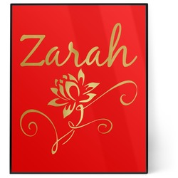 Lotus Flowers 8x10 Foil Wall Art - Red (Personalized)