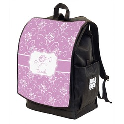 Lotus Flowers Backpack w/ Front Flap  (Personalized)
