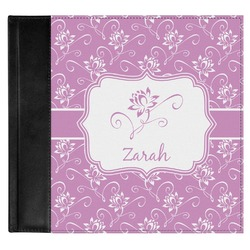 Lotus Flowers Genuine Leather Baby Memory Book (Personalized)