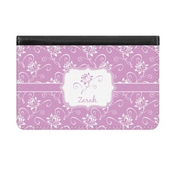 Lotus Flowers Genuine Leather ID & Card Wallet - Slim Style (Personalized)