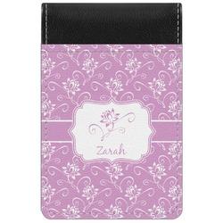 Lotus Flowers Genuine Leather Small Memo Pad (Personalized)