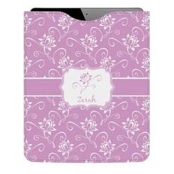 Lotus Flowers Genuine Leather iPad Sleeve (Personalized)