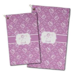 Lotus Flowers Golf Towel - Full Print w/ Name or Text