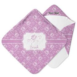 Lotus Flowers Hooded Baby Towel (Personalized)