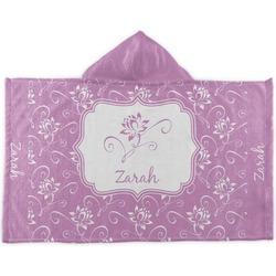 Lotus Flowers Kids Hooded Towel (Personalized)