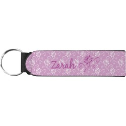Lotus Flowers Neoprene Keychain Fob (Personalized)