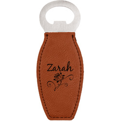 Lotus Flowers Leatherette Bottle Opener (Personalized)