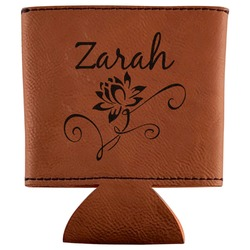 Lotus Flowers Leatherette Can Sleeve (Personalized)