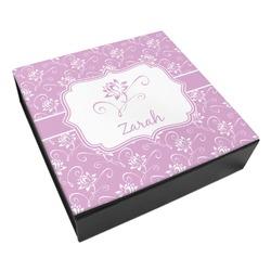 Lotus Flowers Leatherette Keepsake Box - 3 Sizes (Personalized)
