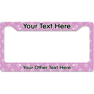 Lotus Flowers License Plate Frame (Personalized)