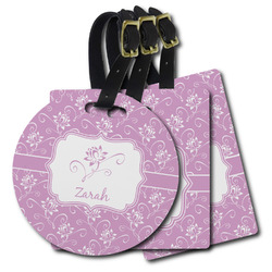 Lotus Flowers Plastic Luggage Tags (Personalized)