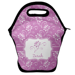 Lotus Flowers Lunch Bag w/ Name or Text