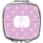 Lotus Flowers Compact Makeup Mirror (Personalized)