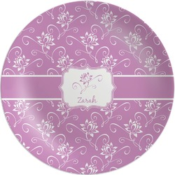 Lotus Flowers Melamine Plate (Personalized)