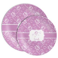 Lotus Flowers Melamine Plate (Personalized)