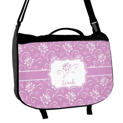 Lotus Flowers Messenger Bag (Personalized)