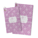 Lotus Flowers Microfiber Golf Towel (Personalized)