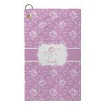 Lotus Flowers Microfiber Golf Towel - Small (Personalized)