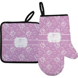 Lotus Flowers Oven Mitt & Pot Holder (Personalized)
