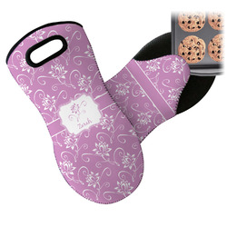 Lotus Flowers Neoprene Oven Mitt (Personalized)