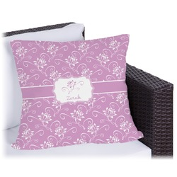 Lotus Flowers Outdoor Pillow (Personalized)