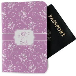 Lotus Flowers Passport Holder - Fabric (Personalized)