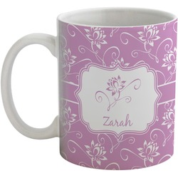Lotus Flowers Coffee Mug (Personalized)