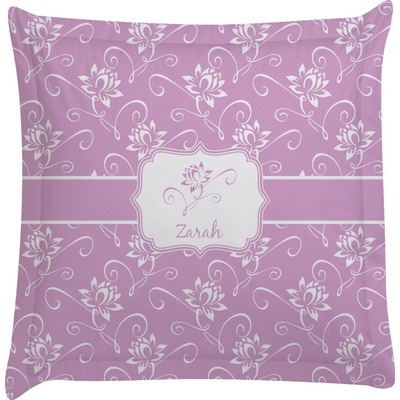 Lotus Flowers Euro Sham Pillow Case (Personalized)