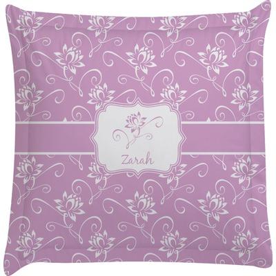 Lotus Flowers Euro Sham Pillow Case (Personalized)