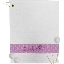 Lotus Flowers Golf Towel (Personalized)