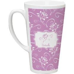 Lotus Flowers Latte Mug (Personalized)