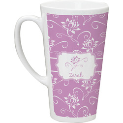 Lotus Flowers Latte Mug (Personalized)