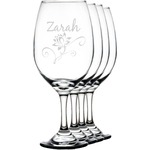 Lotus Flowers Wineglasses (Set of 4) (Personalized)