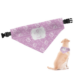 Lotus Flowers Dog Bandana - Large (Personalized)